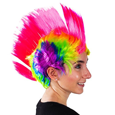 $19.32 • Buy Rainbow Mohawk Wig - Groovy Rainbow Mohawk Wig Costume Accessory Attention Party