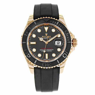 $ CDN32000.25 • Buy Rolex Yacht-Master 116655 Black Dial 18K Rose Gold Automatic Mens Watch
