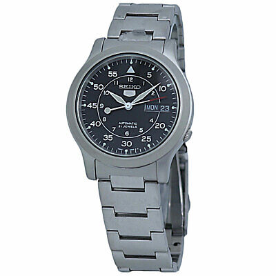 $ CDN117.97 • Buy Seiko 5 Automatic Black Dial Men's Watch SNK809K1