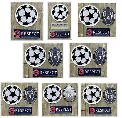 £7.78 • Buy UCL UEFA Champions League Set Respect+Star Ball+Trophy 4,5,7,9,10 Patch