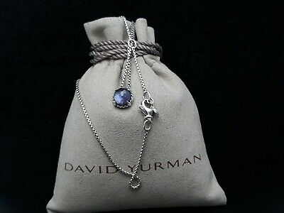 $129 • Buy David Yurman Chatelaine Pendant Necklace With Black Orchid 16/17 Inch Chain