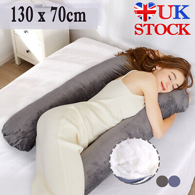 7ft U Pillow & Case Pregnancy Total Body Bolster Support Maternity Adult Pillow • 19.19£