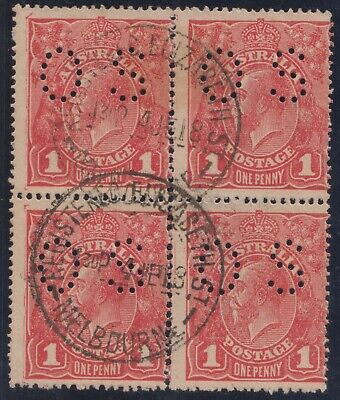 AU68 • Buy Kgv 1 D  Red  Block Of Four Fine Used