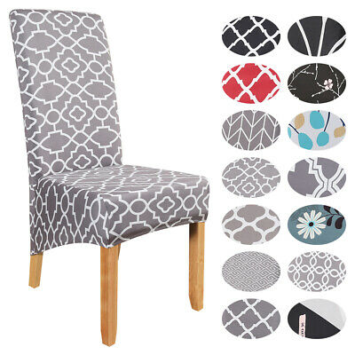 NEW Elastic Dining Chair Covers Kitchen Chair Protective Slipcovers High Back • 5.89£