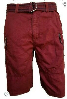 Mens Airwalk Cargo Shorts Size 30  Waist In Maroon Bnwt • 6.99£