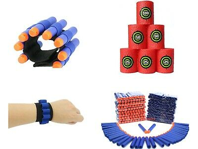 Nerf Gun Accessories Package Bullets, Targets & Ammo Wrist Bands Party Bags • 8.99£