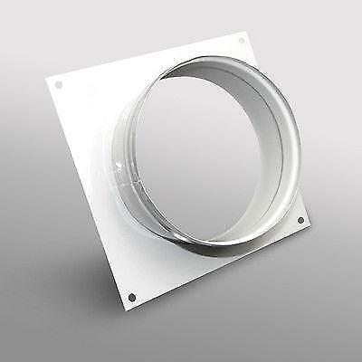 Ducting Wall Plate Spigot 250mm Hydroponic Grow Room Ventilation • 13.45£