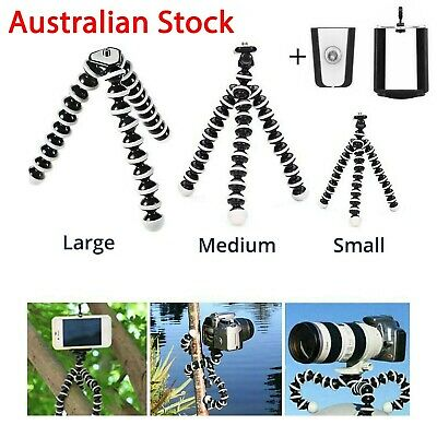 AU15.99 • Buy Universal Octopus Stand Tripod Mount Holder For IPhone Samsung Cell Phone Camera