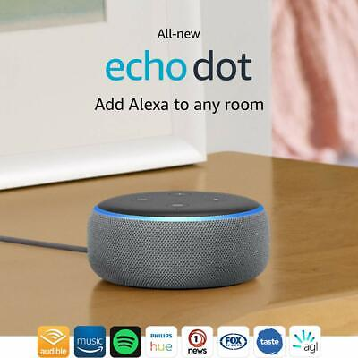 AU15.50 • Buy BRAND NEW - Amazon Echo Dot (3rd Generation) Smart Assistant - Charcoal Fabric