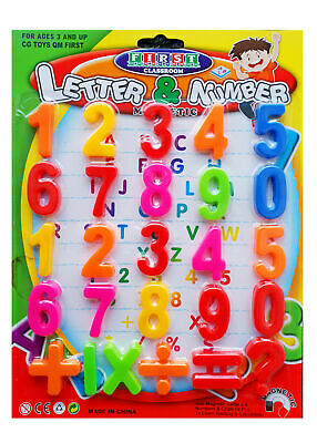 26pc Kids Childrens Magnetic Numbers And Letters Learning Set Toy Fridge Magnets • 2.59£