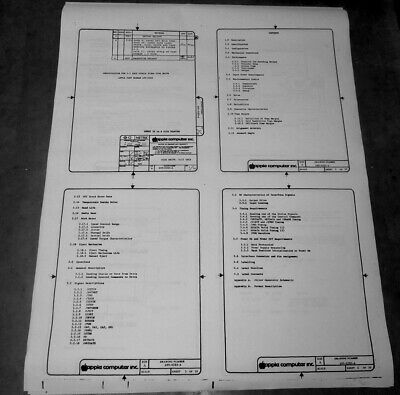 £108.17 • Buy Apple Lisa/Mac 3.5  DD Specs Set - 1983 - 39 Pages In Schematic Format 24  X 36