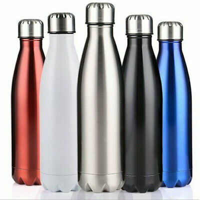 AU22.99 • Buy 1L Stainless Steel Insulated Thermos Water Bottle Travel Drink Mug Flask Thermal