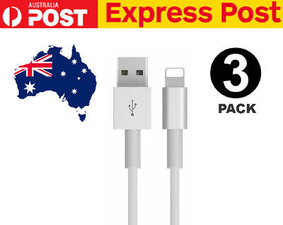 AU9.45 • Buy 3x USB Lightning Charging Cable Data For Genuine Apple Charger IPhone IPad 6 8 7