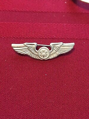 $20 • Buy Sterling Silver Military Wings Pin WWII