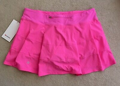 "$ CDN129.99 • Buy Lululemon Pace Rival Skirt 15"" Medium Rise Tall Dark Prism Pink Size 10T Or 12T"