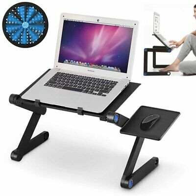Folding Notebook Laptop Desk Table Stand Sofa Tray With Cooling Fan Mouse Boad • 17.51£