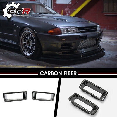 $152.83 • Buy For Nissan R32 Nis N1 Style Carbon Fiber Front Bumper Vents Air Duct  Bodykits