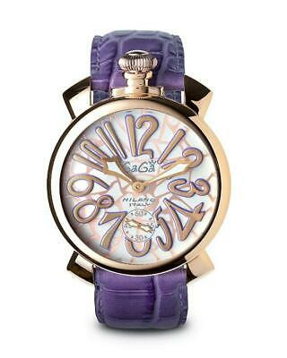 GaGà Milano Mechanical Watch Manuale 48MM Mosaico Purple Rose Gold 5011.MOS.01S • 999£