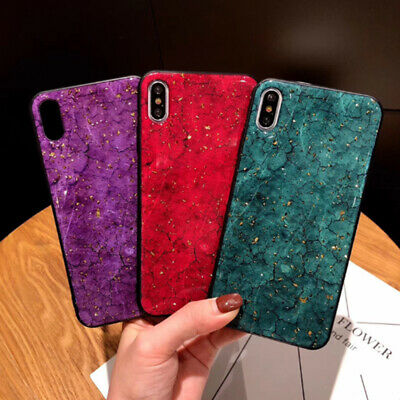 AU5.83 • Buy Glossy Glitter Marble Phone Case Cover For IPhone 6 7 8 Plus 11 Pro X XR XS Max
