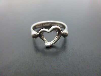 Auth Tiffany & Co. Heart Ring EU49 US5 JP9 Sterling Silver 925 Good 86026 • 29.81£
