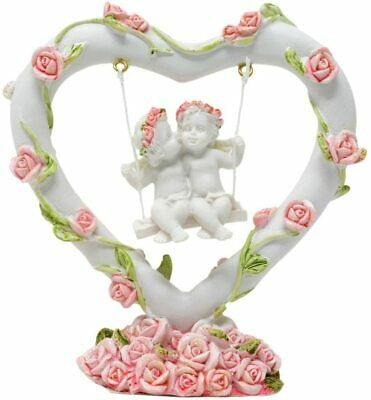 £8.99 • Buy 2 Angels In Heart Swing With Roses Decoration Ornament