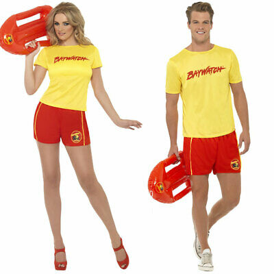 Baywatch Fancy Dress Couples 90's Costume Official Mens Ladies TV Lifeguard • 21.49£