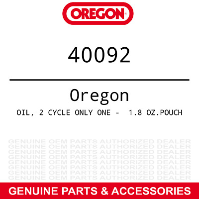 $ CDN14.49 • Buy Oregon 40092 Only One 2-Cycle Engine Oil 1.8oz. Pillow Pack Part
