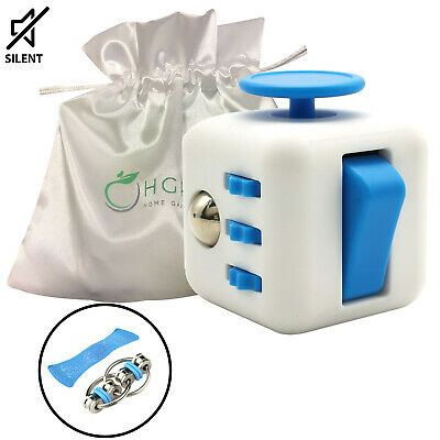 AU18.95 • Buy Fidget Cube Desk Toy  Stress Relief Cubes Comes In Gift Pack+2 Free Fidget Toys