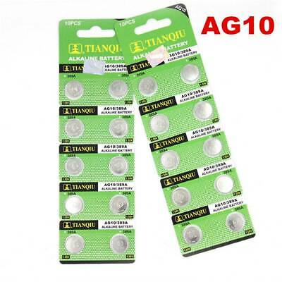 AU3.99 • Buy 10PCS AG10 LR1130 389 LR54 L1131 189 Button-Cell Coin Watch Battery Wholesale