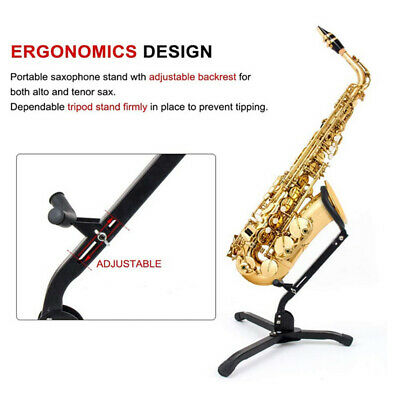 AU25.68 • Buy Alto Tenor Saxophone Stand Display Metal Material Triangle Base Design