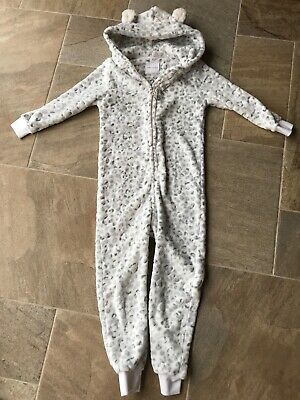 Next Plush Animal Print All In One Piece/Jump/Lounge Suit Pyjamas Age 9 Years • 6.99£