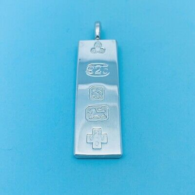 Genuine Hallmarked 925 Sterling Silver Half Troy Oz Ltd Edition Ingot Pendant • 26.99£