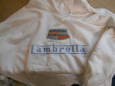 Lambretta Hoody White Innocenti Badge Size Large Adult Aprox 48  Chest OFFER • 15£