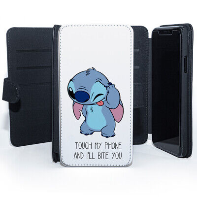 £9.99 • Buy Touch My Phone And I'll Bite You Lilo & Stitch Leather Wallet Phone Case