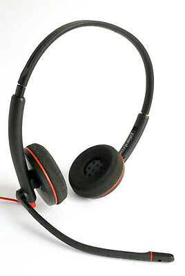 Plantronics Blackwire C3220 Duo Headset With Microphone Stereo USB For PC Skype • 41.11£