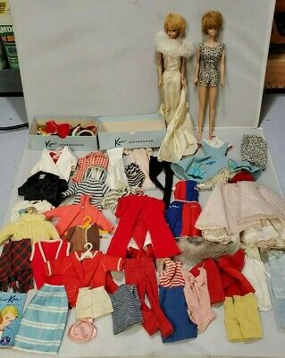 $ CDN132.11 • Buy Vintage Barbie Doll Lot: 2 Dolls, Accessories, Clothes Fashion Doll Case, Etc.