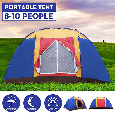 AU89.99 • Buy 10 Person Portable Family Large Tent For Travel Camping Hiking Waterproof AU