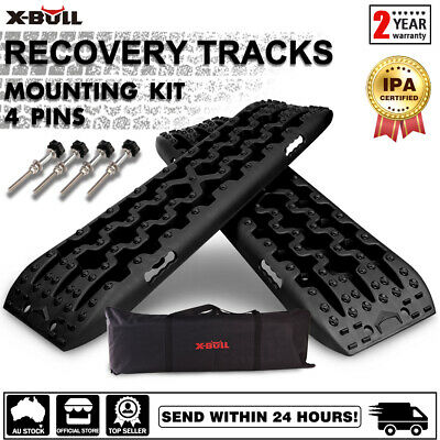 AU98.90 • Buy X-BULL Recovery Tracks Board Mounting Pins Mud Sand Grass Pair Black 4WD 4X4