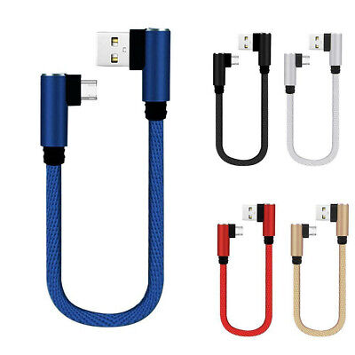 AU4.08 • Buy 25cm Short Charging Cable Elbow 90-Degree Type C USB-C Micro USB Cable