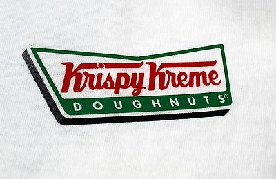 $12.99 • Buy Krispy Kreme Donut T Shirt Tee Doughnuts Logo Graphic Tee White L XL 100% Cotton