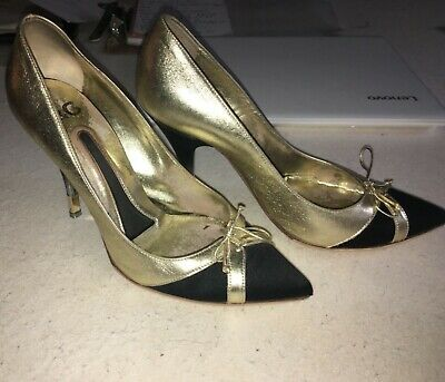 £24.99 • Buy Gorgeous Dolce And Gabbana Black/ Gold Ladies Shoes Size 4.5