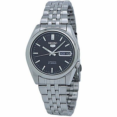 $ CDN117.31 • Buy Seiko 5 Automatic Black Dial Stainless Steel Men's Watch SNK361