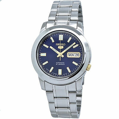$ CDN136.86 • Buy Seiko 5 Automatic SNKK11J1 Blue Dial Stainless Steel Men's Watch