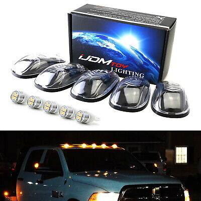 $34.19 • Buy Clear Lens Amber Full LED Cab Roof Clearance Marker Light Kit For Truck SUV 4x4