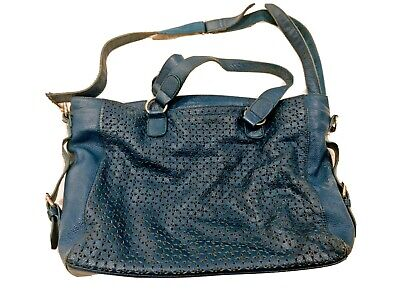 AU20 • Buy Blue Leather Handbag Laptop Bag
