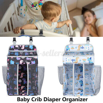 Baby Crib Cot Bed Bedside Hanging Storage Bag Diaper Nappy Toys Organizer  • 14.34£