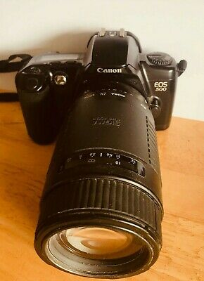 £45 • Buy Canon EOS  500 With Sigma 75-300mm Telephoto Lens