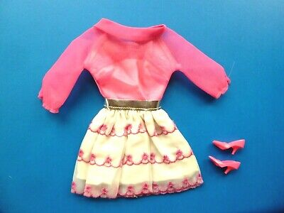 $ CDN47.99 • Buy Vintage Barbie Happy Go Pink Dress & Shoes #1868 (1969)