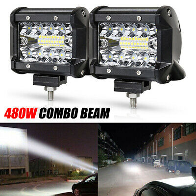 AU17.05 • Buy 4INCH 480W Spot Beam LED Light Bar Work Lamp Driving Offroad SUV 4WD Boat Truck