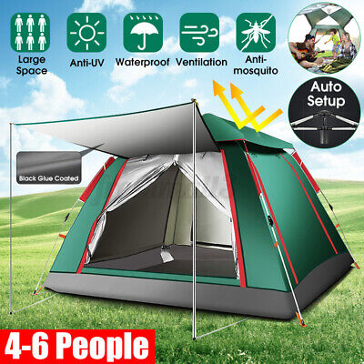 AU65.99 • Buy Automatic Open Camping Tent Coated Anti-UV Large Space Waterproof Outdoor Tent